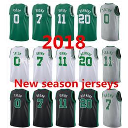 Wholesale Jersey 11 - Mens 2018 New season jerseys 11 Kyrie Irving 20 Gordon Hayward 0 Jayson Tatum 7 Jaylen Brown 42 Al Horford 100% Stitched jersey