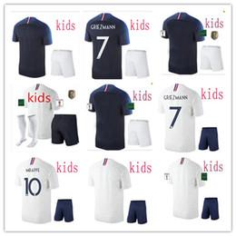 équipement des garçons Promotion 2019 french Maillot de Foot enfants enfant 2 enfants 2 étoiles équipement Equipe de fr 2018 garçons filles kits de football jeunes Maillots de foot