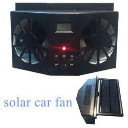 2019 ventiladores automáticos nueva llegada 12V negro Solar Sun Power Car Auto ventilación de aire Cool Cool Coo Cooler Sistema de ventilación Radiador coche Aire SIN BATERÍA ventiladores automáticos baratos