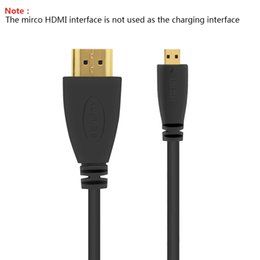 Wholesale Premium Hdtv - Micro HDMI to HDMI Cable 2M Gold-Plated 1.4 3D 4K 1080P High Premium Cable Adapter for HDTV XBox Mobile Phone PC Table