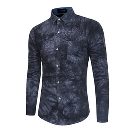 xxl dress shirts men Promo Codes - Shirt Men Dress Shirt Mens Clothing Casual Shirts Cotton Blend Long Sleeve Single Breasted Square Collar Spring Summer Size M-XXL