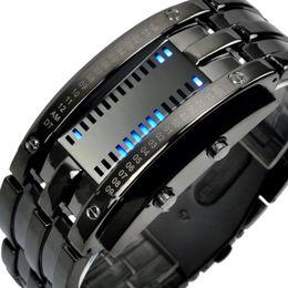 Caja de bluetooth online-Moda Relojes creativos para hombres Pantalla LED digital 50 M Relojes de pulsera impermeables para los amantes de los hombres amantes con caja libre Reloj Bluetooth