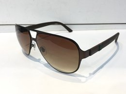 Wholesale Wrapping Design - Luxury 2252 Sunglasses For Men Brand Design Fashion Sunglasses Wrap Sunglass Pilot Frame Coating Mirror Lens Carbon Fiber Legs Summer Style