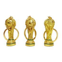 Anelli portachiavi online-2018 Russia Coppa del Mondo Portachiavi Hercules Portachiavi in metallo color oro Coppa europea Coppa portachiavi per i fan