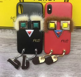 Wholesale High Fashion Iphone Cases - Luxury Brand Fashion Phone Case For iphone x High Quality Stylish Phone Back Cover For iPhone 8 7 6s Plus With Retail Box