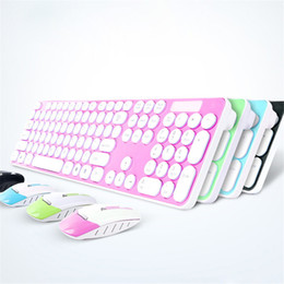 Wholesale New Pc Keyboards - New 2.4G Wireless keyboard mouse combo with USB Receiver for Desktop Computer PC Laptop and Smart TV
