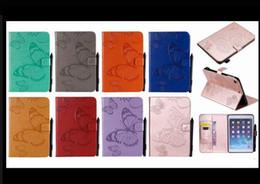 2019 flip de la flor ipad mini Funda de impresora 3D para Ipad Mini1 Mini2 Mini3 Flor de mariposa pintada PU para ipad mini 1 2 3 4 Funda de cuero Flip para tableta + pluma rebajas flip de la flor ipad mini