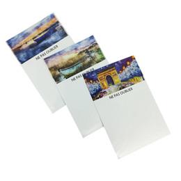 Adesivi magnetici magnetici online-Scenic Referigerator Magnete Pittura a olio Design flessibile Message Board Frigorifero Lavagna Memo Pad Magnetic Sticker Tavolo da disegno