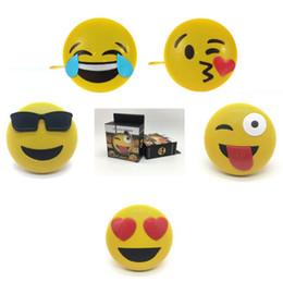 подставка для громкоговорителей Скидка 5 Стили Переносной Мини Emoji Emotion Bluetooth для Беспроводной Динамик С Подставкой Ремешок QQ Expression Телефон Громкоговоритель CCA10653 20 шт.