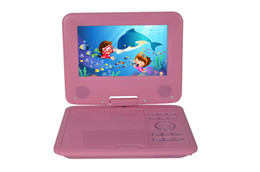 Wholesale Return Gifts - 7 Inch Portable DVD CD MP3 Player, with Swivel Screen, 3 Hours Rechargeable Battery, Girls DVD Player, Kids Birthday Return Gift -Pink