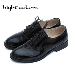 b7e88f510 sapato mulheres inglaterra Desconto Hight cores couro de patente oxfords  shoes inglaterra estilo mulheres sapatos de