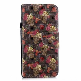 tower pro Promo Codes - 3D Skull Leather Wallet Case For Galaxy (A6 A8 J2 Pro J3 J4 J6 J8)2018 Note9 8 S9 S8 Eiffel Tower Unicorn Butterfly Flower Luxury Flip Cover