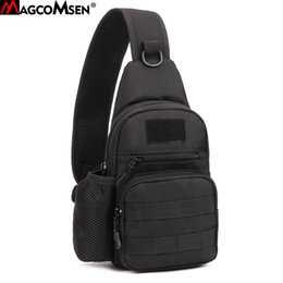 MAGCOMSEN Men Sling Chest Backpack Men Nylon Durable Backpacks Waterproof  Laptop IPAD Shoulder Bags for Students SHZ-02 0d134812b15f5