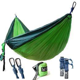 Wholesale Lightweight Hammock - Portable Lightweight Nylon Parachute Double Hammock Multifunctional Hamak Camping Backpacking Travel Beach Yard Garden
