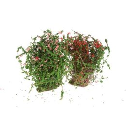 2 colori artificiali Bush Flower Miniature Fairy Garden Casa Case Decorazione Mini Craft Micro paesaggistica Decor Accessori fai da te da