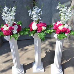 Wedding decorative props supplies nz buy new wedding decorative free shipping white roman column with artificial rose flower sets wedding aisle runner stage decoration pillars props supplies junglespirit Images
