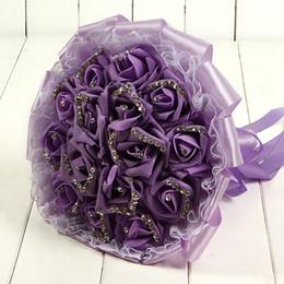 2019 fã de ouro rosa New Artificial Mulher Bouquets De Casamento Do Laço para Bridals Rose Flores De Mariage Bouquets De Noiva Pérolas Titular Peônias Acessórios CPA1595