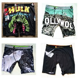 Wholesale rock street - Ethika Men's Staple underwear arcade pac man printing sports hip hop rock excise boxers skateboard street fashion streched legging quick dry