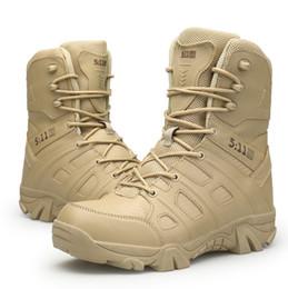 Argentina Zapatos de senderismo al aire libre Desierto de los hombres Botas tácticas de tacón alto Hombres Botas de ejército de combate Militares Sapatos Masculino compras gratis cheap army desert combat boots Suministro