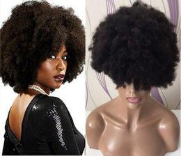 Pestañas de cabello humano real online-Afro Curl Pelucas llenas del cordón Peluca delantera del cordón del pelo humano brasileño de la Virgen con aleatoriamente 2 pares 3D Real Viseras de Visón de Regalo Envío Gratis