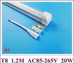 Tubo LED T8 lâmpada tubo de luz LED tubo integrado 1200mm 4FT SMD2835 20 W 2400lm AC85V-265V de entrada de alumínio de