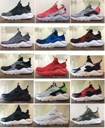 Wholesale Womens Skies - New Air Huarache Running Shoes Huaraches Rainbow Ultra Breathe Shoes Mens Womens Huraches Multicolor Hurache Sneakers Sport Trainers box