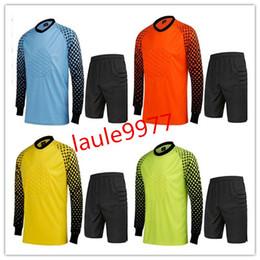 2019 marca de uniformes de futbol Nueva marca de fútbol de los hombres de la camiseta de portero de fútbol Goal Keeper Uniforms Traje de entrenamiento de los pantalones de los porteros de la camisa pantalones cortos 3XL rebajas marca de uniformes de futbol