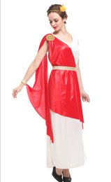 2019 trajes romanos antigos Mitologia grega antiga Deusa Sexy Trajes Mulher Halloween rainha Roman rainha Cosplay mostrando pano vestido de Carnaval Masquerade trajes romanos antigos barato