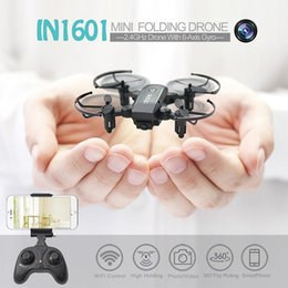 Wholesale Motor Channel - Linxtech IN1601 720P Wifi FPV Cute Selfie Mini Drone with Camera Helicopter Altitude Hold RC Drone Quadcopter Foldable Dron