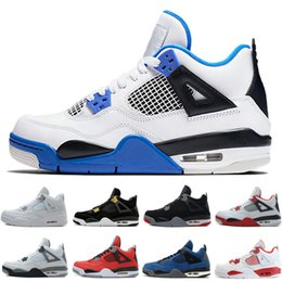 Wholesale cat bowl black - 4 4s Men Basketball Shoes Alternate Motorsports Blue Game Royal Fire Red White Cement Pure Money Black Cat Bred Oreo Sport Sneakers trainers