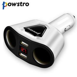 Powstro 5V 3.1A Auto Ladegerät 2 USB Port 2 Weg für Zigarettenanzünder Splitter Ladegerät DC 12 ~ 24V Zigarettenanzünder Socke von Fabrikanten