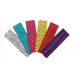 Wholesale Sports Hair Bandanas - Women Lady Yoga Elastic Leopard Print Hairband Turban Headband Head Wrap Outdoor Sports Running Elastic Hair Bands 200pcs LJJO4484
