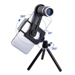 Wholesale Mobile Camera Kit - Universal Kit Phone Camera 8X Lens Zoom Telephoto Lenses Telescope With Clip Mobile Tripod Phone Holder For Cell XIaomi