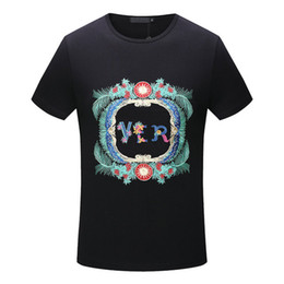 Wholesale T Shirts Flower Men - fashion italy Summer luxury Brand tshirt designer embroidery medusa geometry flowers letter color Men casual women t-shirt shirts tee top