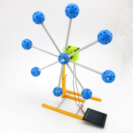 Wholesale solar models - Solar Power Novelty Kit Ferris Wheel Building Model 4WD Smart Robot Car Chassis Small Remote Control Toy