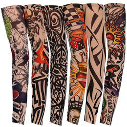 Apparel Accessories Men's Accessories Fashion Style Men Arm Warmer Stockings Elastic Tattoo Sleeves Nylon Temporary Tattoo Sleeves Sport Skins Sun Protective Seamless Fake Tattoo 50% OFF
