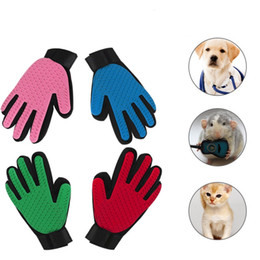 Wholesale deshedding tools - New Arrival Silicone Pet Grooming Glove Bath Mitt Dog Cats Cleaning Massage Hair Removal Grooming Deshedding Glove