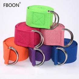 Спортивное снаряжение онлайн-FBOON Adjustable Yoga Belt Sport Stretch Strap D-Ring Belts Gym Waist Leg Cotton Stretch Belt Fitness Yoga Cable Equipments