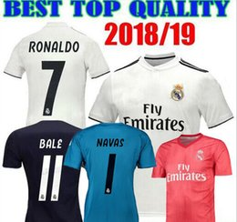 Camiseta de futbol equipaciones Real Madrid Soccer Jerseys 2019 Maillots  foot Champion League Keylor Navas realmadrid Goalkeeper db254456e