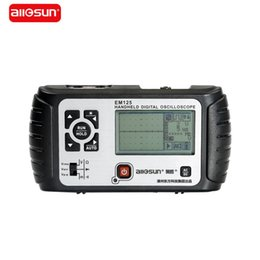 Wholesale Portable Multimeter - Wholesale-All-sun 25MHz 100MSa s Digital 2 in1 Handheld Portable Oscilloscope+Multimeter Single Channel Waveform USB LCD Backlight EM125