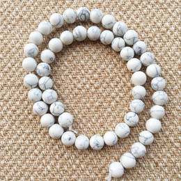 Wholesale Party Scatters - Natural Stone DIY Scattered beads Handmade weathering agate stone White Turquoise matte Buddha 8mm beads 2018 for lover Jewelry Accessories