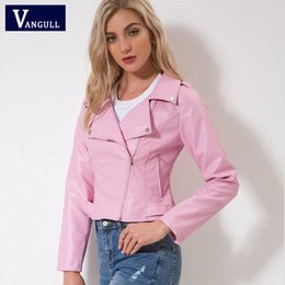 Leder mantel rosa