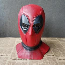 Wholesale Full Latex Hood - NEW Deadpool Mask Halloween Hood Full Face Latex Helmet Cosplay Party Props