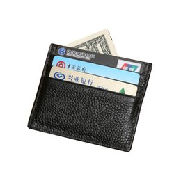 Wholesale Bank Notes - Hot Sale Fashion Casual Wholesale 100% Genuine Leather Comfort Pocket ID Credit Card Bank Card Slim Design Pocket Men's Holder Purse