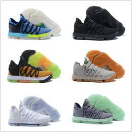 sneakers for cheap e87e1 ad876 Zoom KD 10 Basketballschuhe 2018 Herren Herren Homme Blau Tennis BHM Kevin  Durant 10 X 9 Elite Floral Tante Perlen Ostern Sportschuhe günstige männer  kd bhm ...