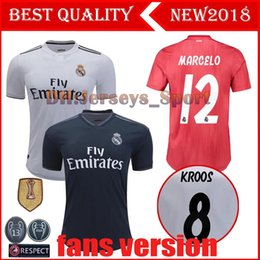 18 19 Real Madrid Home Away Soccer Jerseys Thailand Jerseys 2019 MODRIC  BALE KROOS ISCO BENZEMA 3rd Football Shirts Mariano New Jerseys baa4d42c0
