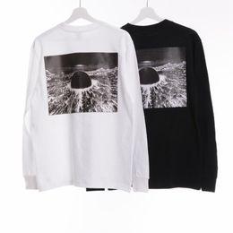Черный ящик t онлайн-17FW Акира Нео-Токио футболка белый черный аниме с длинным рукавом Tee Top Box логотип бренда рубашки мужчины негабаритных скейтборд тройники