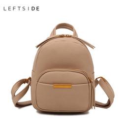 9a55271d42 LEFTSIDE Bags For Women 2018 Mini Leather Travel Backpacks Female Back Pack  For Girls Rucksack Small Bagpack Black White Khaki