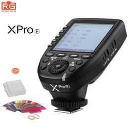 Wholesale x e1 - Free DHL Godox XPro-F 2.4G Wireless TTL II HSS Flash Trigger for Fuji Fujifilm X-Pro2 X-T20 X-T2 X-T1 X-Pro1 X-T10 X-E1 Camera