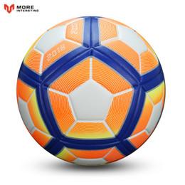 synthetischer fußball Rabatt 2017Hot Verkauf Fußball Ball Erweiterte Kunstleder Fußbälle Ziele Für Jüngeren Teenager Jugend Spiele Trainingsgeräte